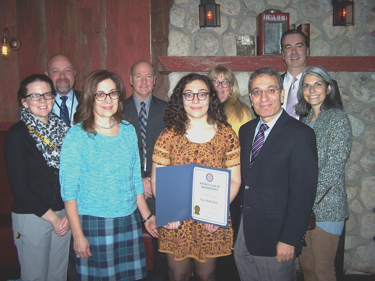 Woodbridge Rotary Club Student of the Month