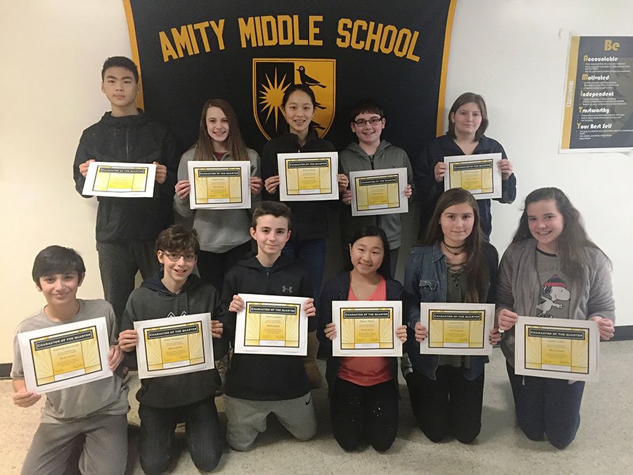 "Amity Middle School-Bethany Campus ""Character of the Quarter"" Award"