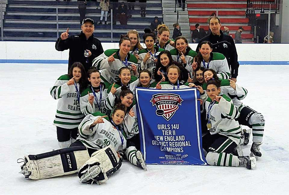 Shoreline Sharks Girls U14 Black Team Wins Tier II Regional Hockey Championship