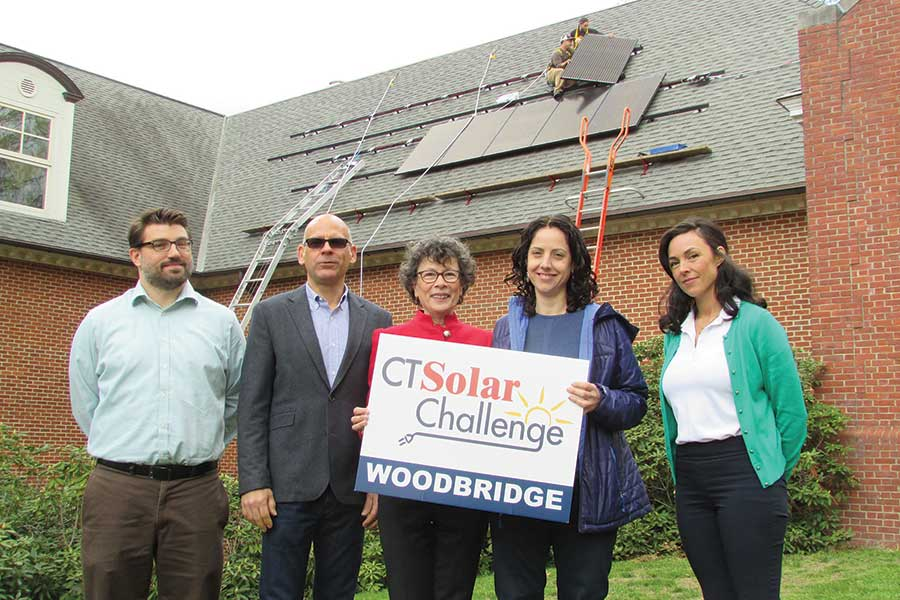 Solar Panels Installed at Woodbridge Town Library
