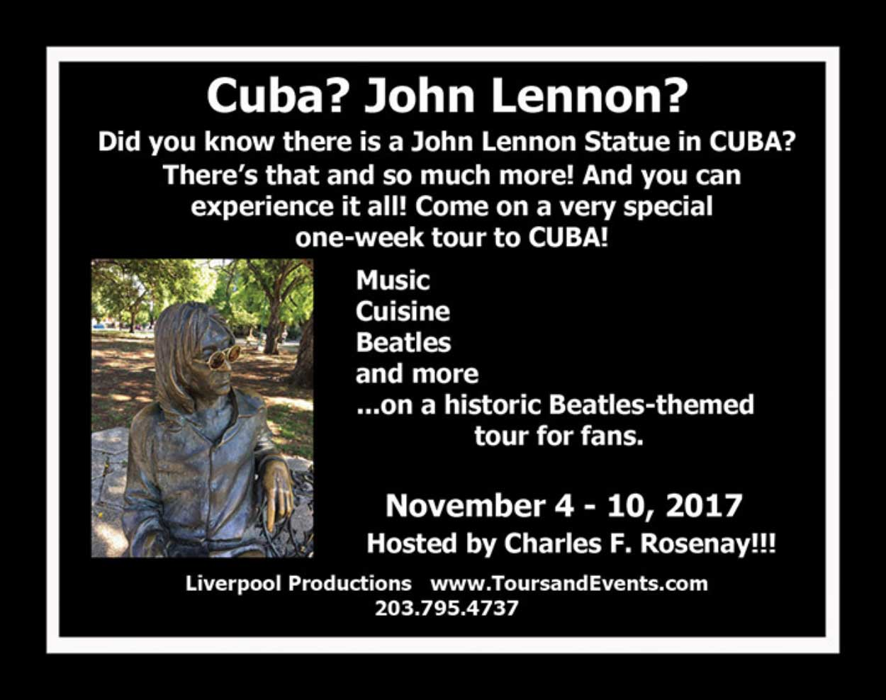 Beatles Fans Tour to CUBA Announced!