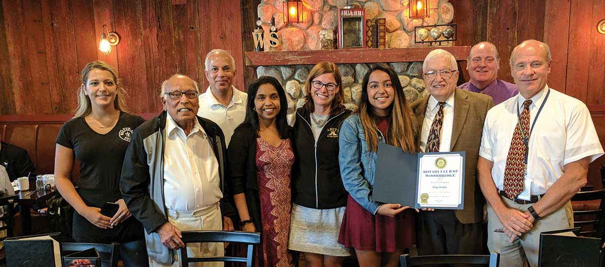 Puja Sinha Named Rotary Student of the Month