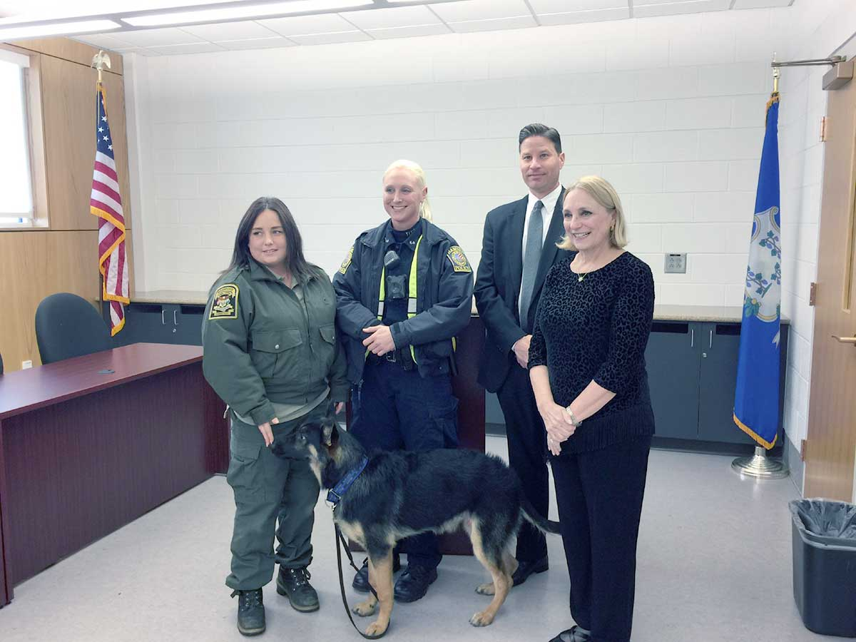 """Arlo"" Inducted As Honorary Police Canine"