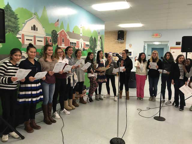 Amity Middle School Bethany Chamber Singers Perform at Woodbridge Senior Center