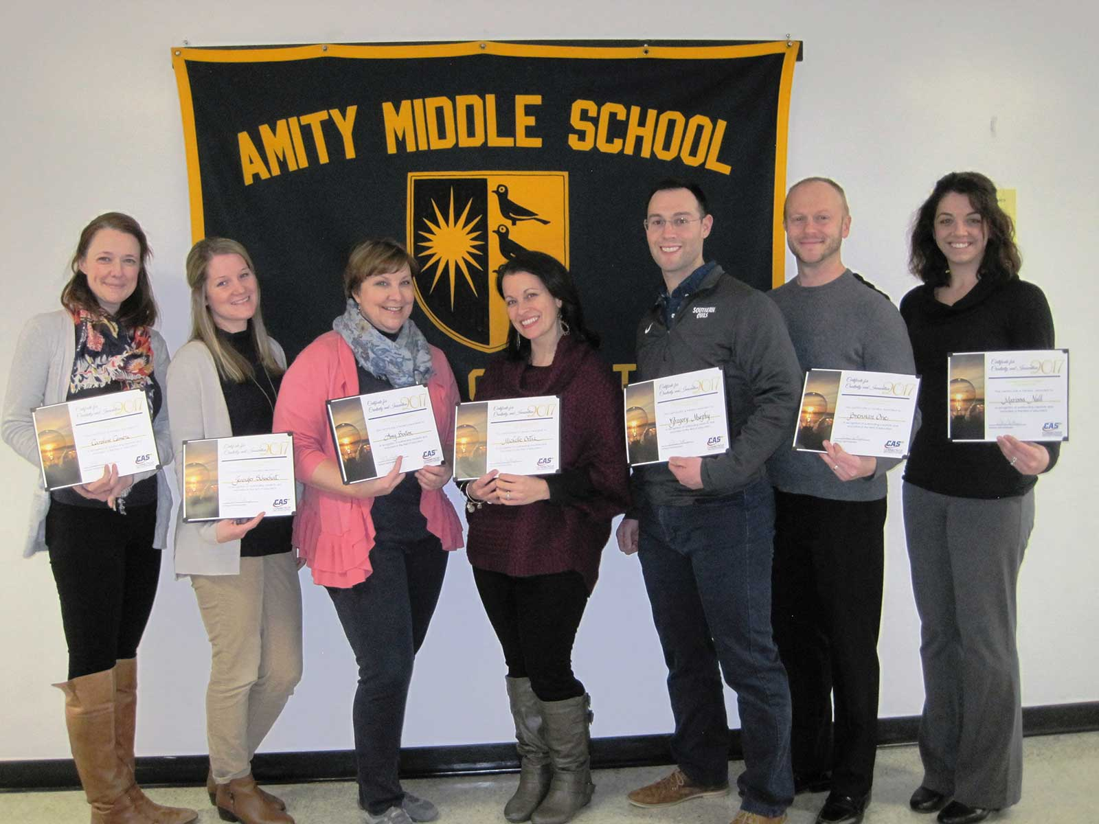 Amity Middle School Bethany Teacher Recognition