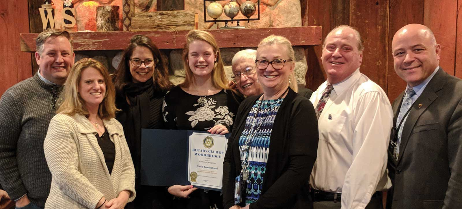 Woodbridge Rotary February Club Student of the Month