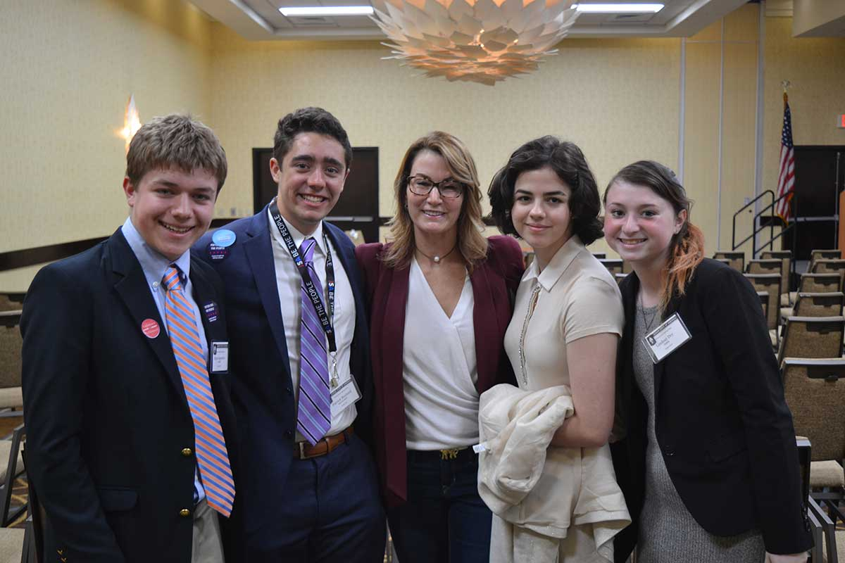 Rep. Klarides Speaks to Junior State of America Members