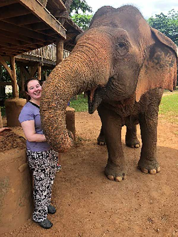 Amity Regional High School Student Fiona Hynes Of Woodbridge, Travels To Thailand To Work With Elephants