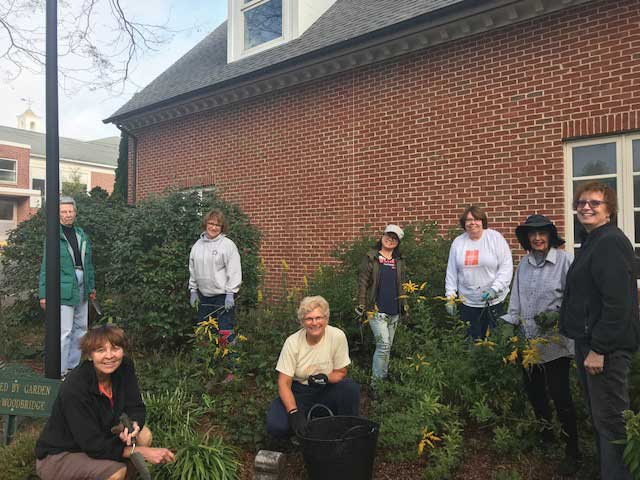 Garden Club Maintains Library Grounds