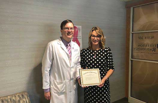 Radiology Society Recognizes Rep. Klarides for Support of Breast Cancer Legislation