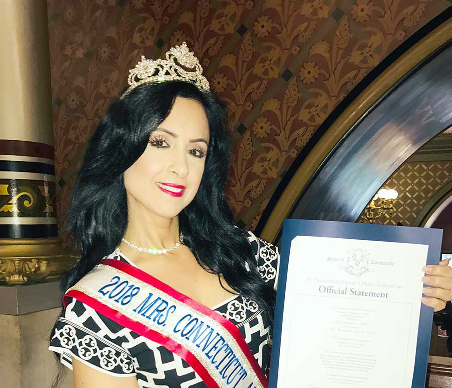 Mrs. Connecticut Is Cheerleader-In-Chief For Her Home State