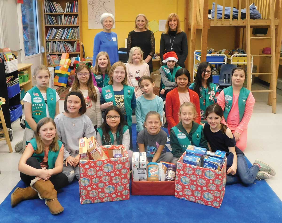Girl Scout Troop 60164 Presentation to the Woodbridge Human Services Adopt a Family Program