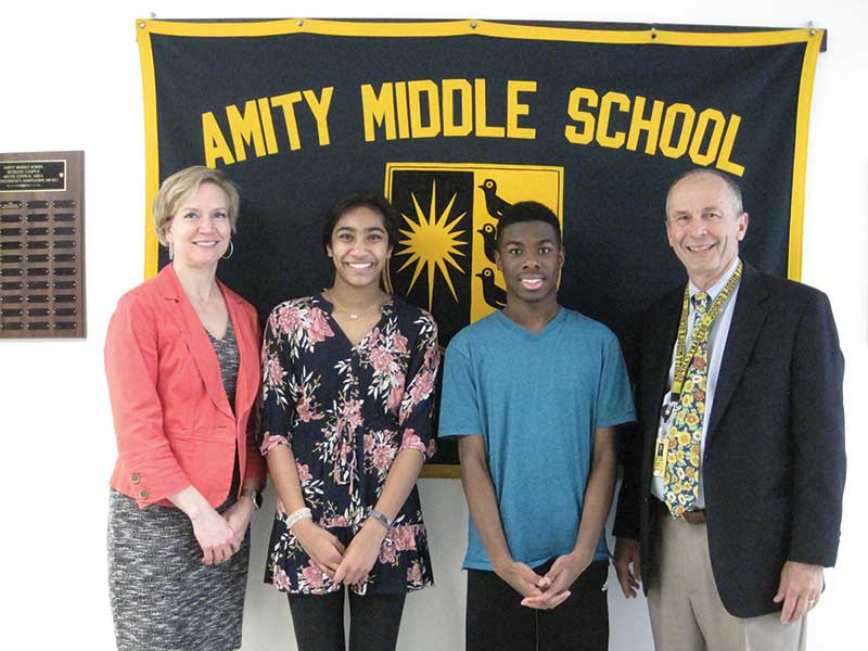 Amity Middle School South Central Superintendents' Association Award Recognition Program 2019