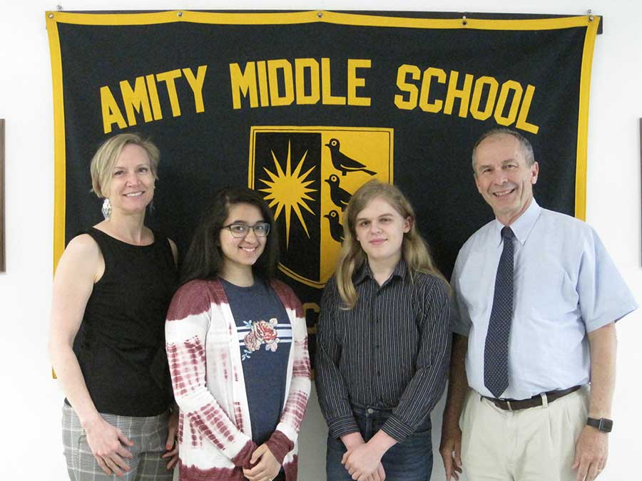 Amity Middle School CT Association of Schools 2019 Middle Level Scholar-Leader Award