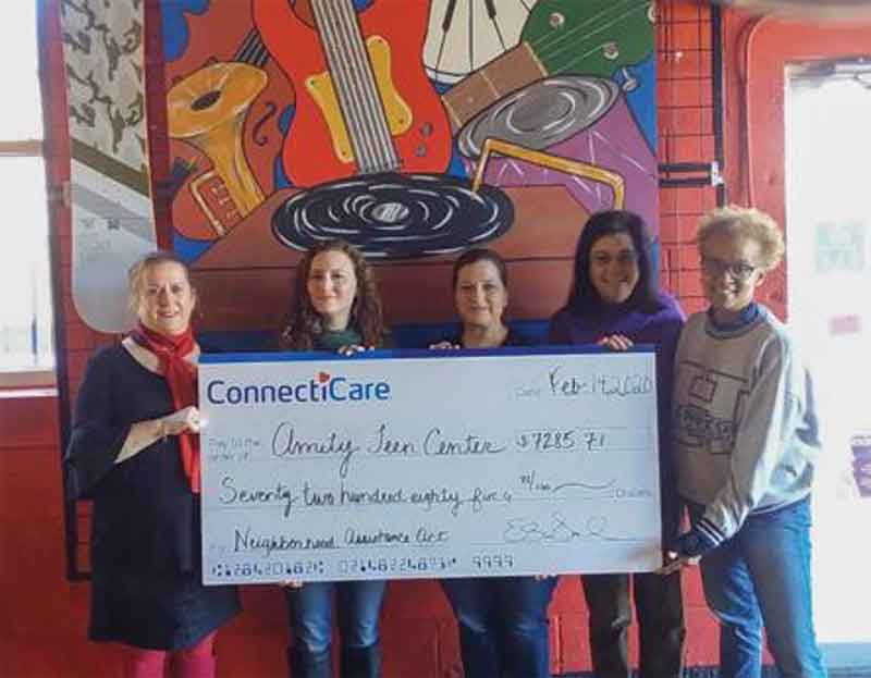 ConnectiCare Donation To Amity Teen Center